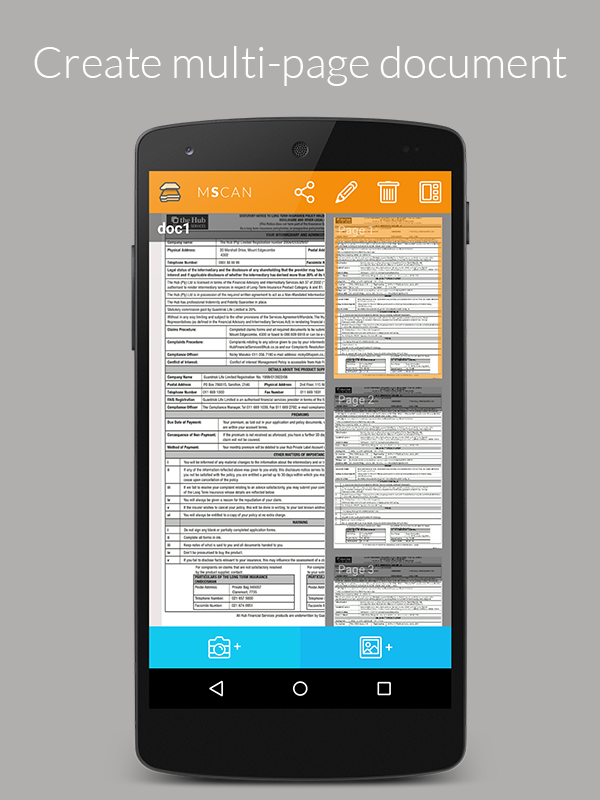 mScan-Smart Document Scanner Screenshot 3