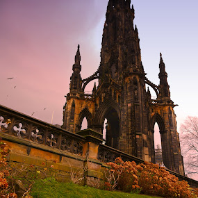 The Scott's Monument by Scott Pirrie - Buildings & Architecture Statues & Monuments
