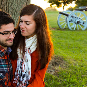 Loving Each other by Steph Doyle - People Couples ( sit, love, valley forge, girl, couple, marriage, boy, engagement )