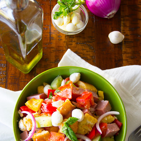 Turkey Pastrami Panzanella {Video}