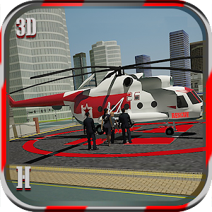 City Helicopter Ambulance Sim