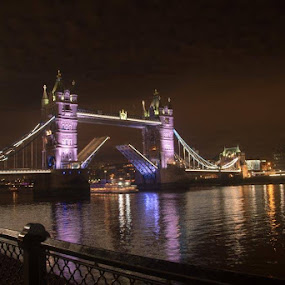 Tower bridge by Marcia Gain - Buildings & Architecture Bridges & Suspended Structures ( #london#bridge#night )