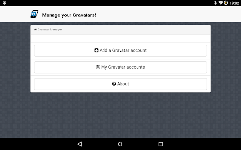 Gravatar Manager - screenshot
