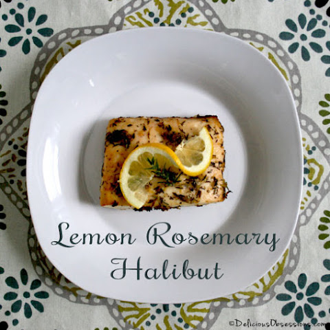 Lemon Rosemary Alaskan Halibut