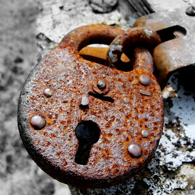 Rusted Lock by Of-the-Star Designs - Artistic Objects Antiques