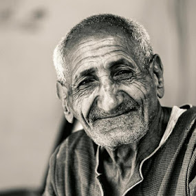 The history of Egypt in a face by Anthony D'Angio - People Portraits of Men ( old, egyptian, smile, portrait, man )