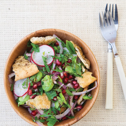 Fava Bean, Herb, and Pomegranate Fattoush