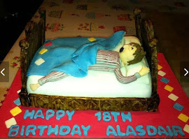 Bed shaped cake