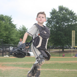 The Catcher by Steven Truitt - Sports & Fitness Baseball ( catcher, baseball, sports )