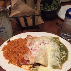 Enchiladas. Tortillas were delicious.