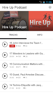 Hire Up Podcast - screenshot