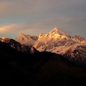 sunset at panchchuli by Saptarshi Mandal - Landscapes Mountains & Hills ( mountain, himalaya, india, travel, landscape, light )