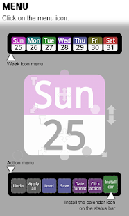 Status bar Calendar - screenshot