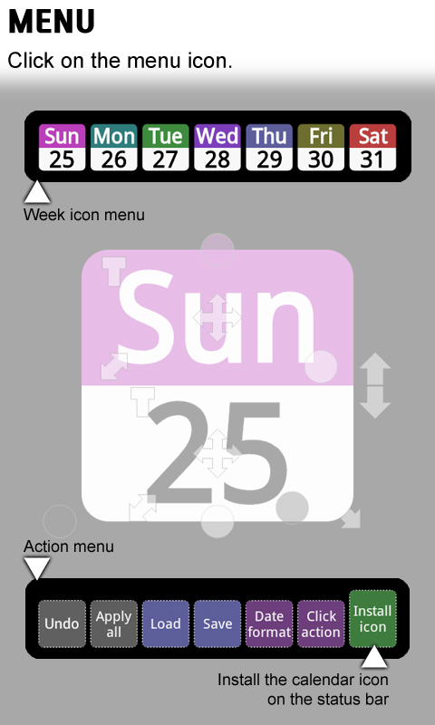 Status bar Calendar Screenshot 2