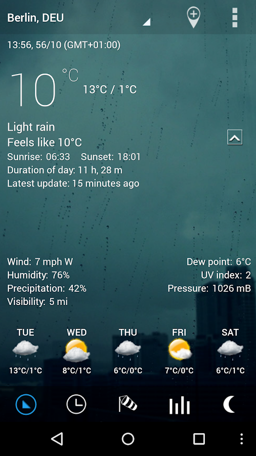 Sense Flip Clock & Weather Pro Screenshot 1