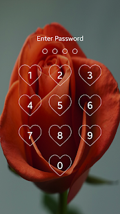 Flower Keypad Lock Screen - screenshot