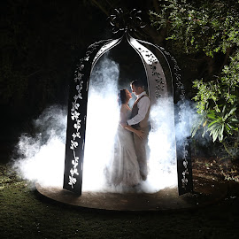 Smoky night by Nici Pelser - Wedding Bride & Groom