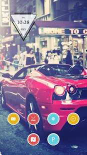 Red Cool Car Theme - screenshot