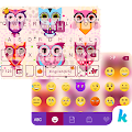 Cute Owls Emoji Keyboard Theme APK for Bluestacks