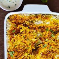 Baked Hyderabadi Chicken Biryani