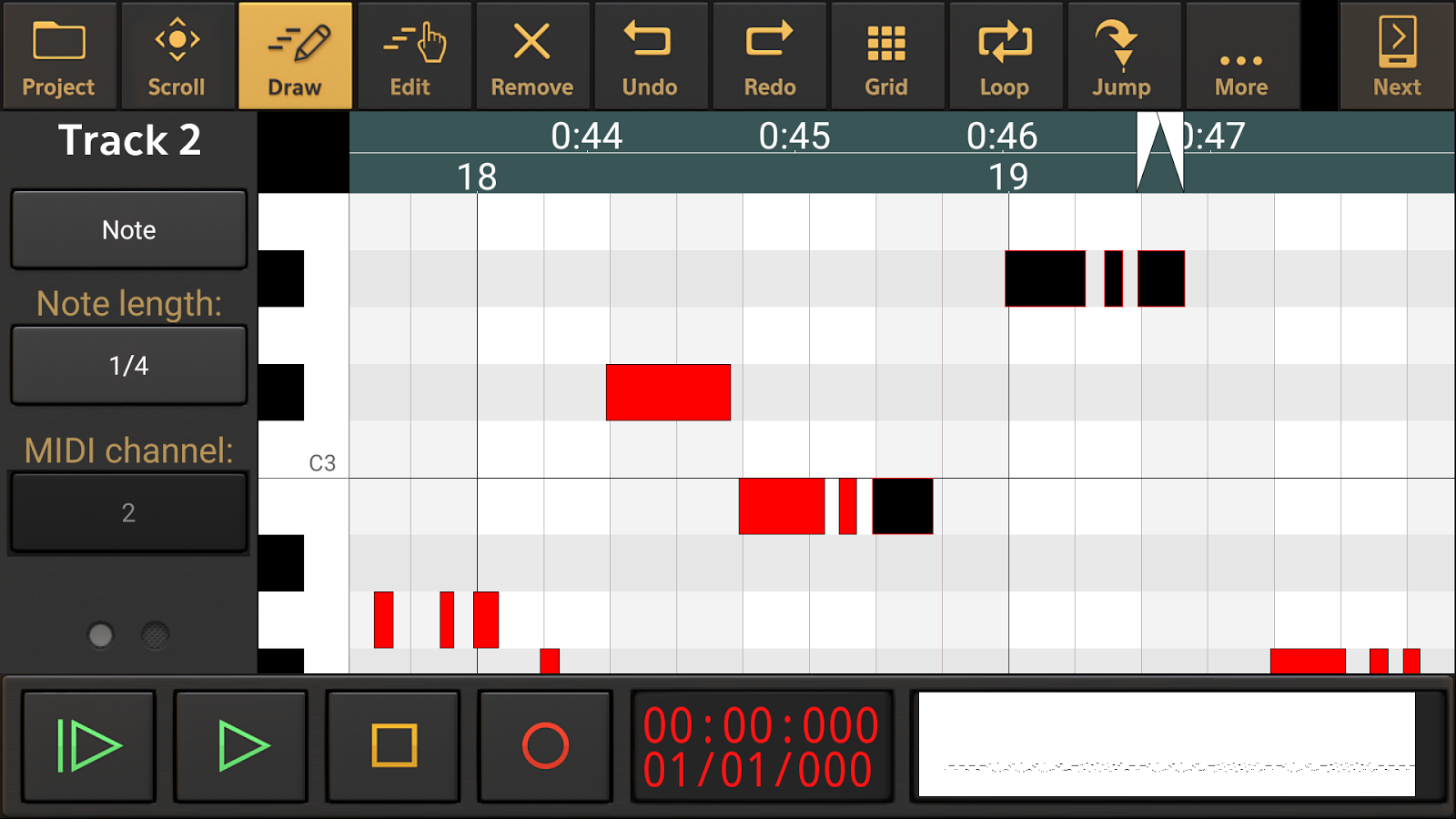 Audio Evolution Mobile Studio Screenshot 2
