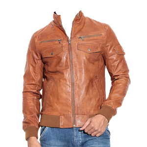 Man Leather Jacket Photo suit