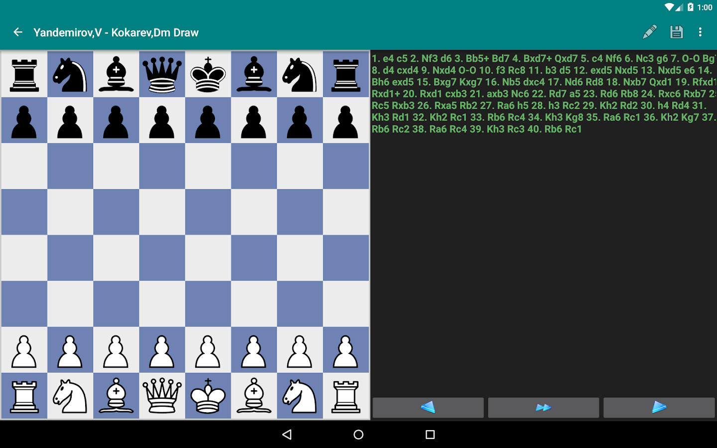 Perfect Chess Database Screenshot 9