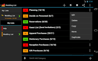 Screenshot of Wedding Planner