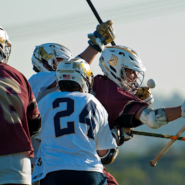 See the ball. by Kevin Mummau - Sports & Fitness Lacrosse ( defense, ball, see, focus, lacrosse )