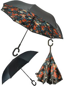 Зонт обратный, бежевый