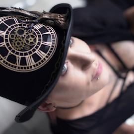Steampunk  by Jason Elphick - People Portraits of Women ( eye, steampunk, hat, style, portrait, look )