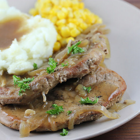 Slow Cooker Smothered Pork Chops