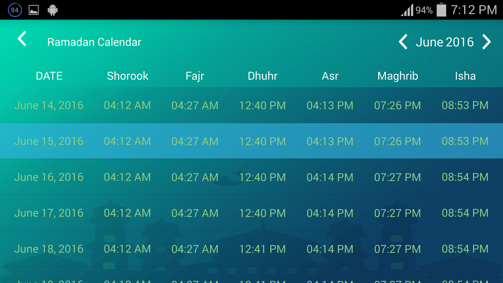 Prayer Times: Azan,Qibla,Imsak Screendshot 10