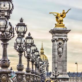 Lampadas by Alexandre Rios - City,  Street & Park  Street Scenes ( paris, europe, street, france, bridge, photography,  )