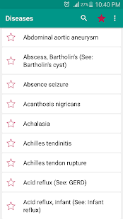Disorder & Diseases Dictionary screenshot for Android