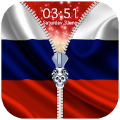Russia Flag Zipper Lock Screen APK for Bluestacks