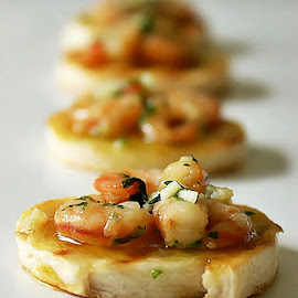 Prawns on toast by Alka Smile - Food & Drink Meats & Cheeses (  )