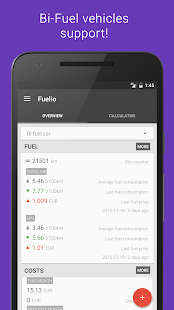 Fuelio: Gas log & costs for Lollipop - Android 5.0