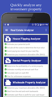Real Estate Analyzer screenshot for Android