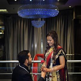 Ankit & Varsha by Pranab Sarkar - Wedding Reception ( reception, ring, propose, wedding, indian wedding )