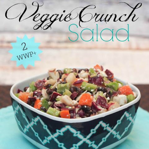 Veggie Crunch Salad {Weight Watchers 2 Points Plus}