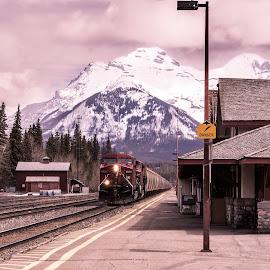 by Chris Partheniou - Transportation Trains ( national park, alberta )
