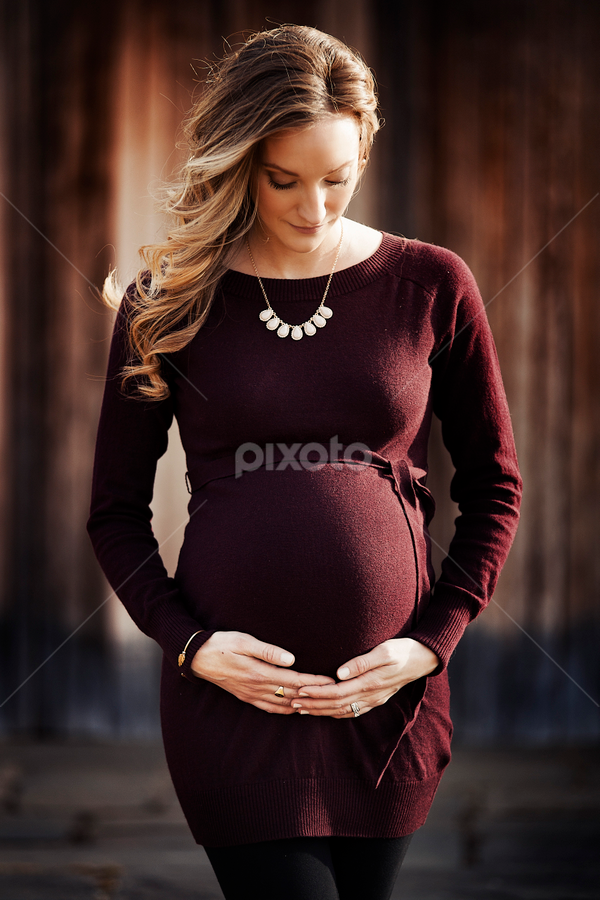 Holding a life by Joseph Humphries - People Maternity ( maternity, wood, pregnancy, pregnant, bokeh, babybump )