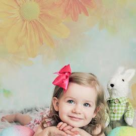 Rozelyn Easter by Jenny Hammer - Babies & Children Child Portraits ( child, easter, girl, toddler, portrait )