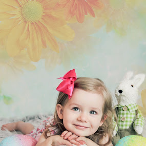 Rozelyn Easter by Jenny Hammer - Babies & Children Child Portraits ( child, easter, girl, toddler, portrait )