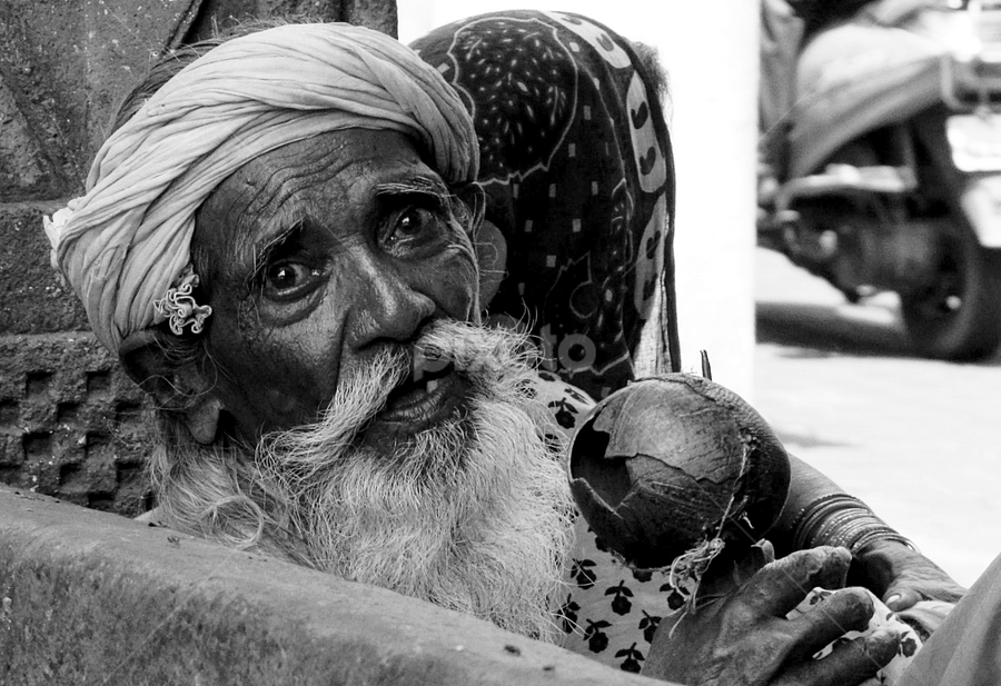 Street singer... by Avijit Basak - City,  Street & Park  Street Scenes ( broken, old, street, singer, instrument )