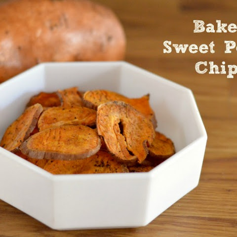 Baked Sweet Potato Chips with Sea Salt & Pepper