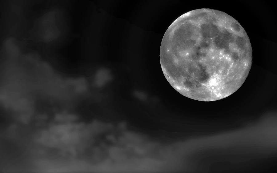 mr moon by Almas Bavcic - Abstract Fine Art ( moon, sky, nature, night, travel )