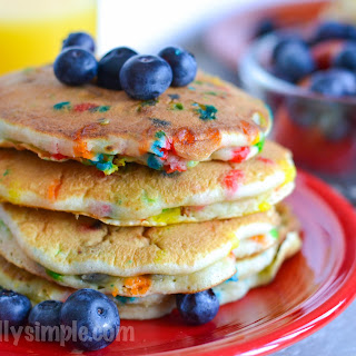 Blueberry Pancakes with Sprinkles