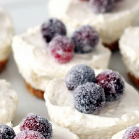 Mini Cheesecakes with Sugared Cranberries